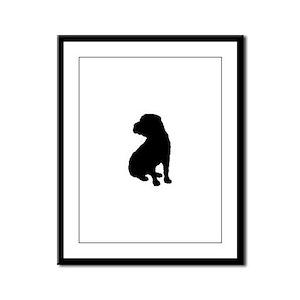 Shar Pei Silhouette Framed Panel Print