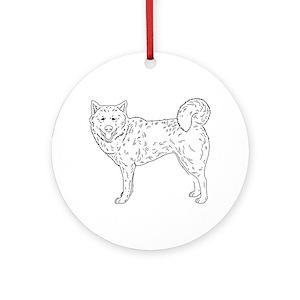 White Siberian Husky Ornaments Cafepress