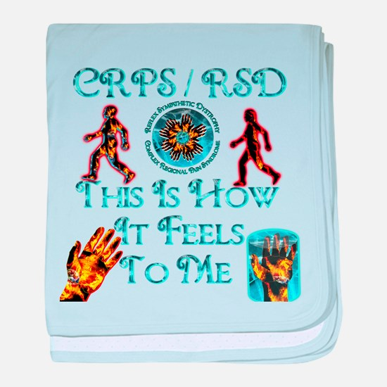 CRPS / RSD This Is How It Fee baby blanket