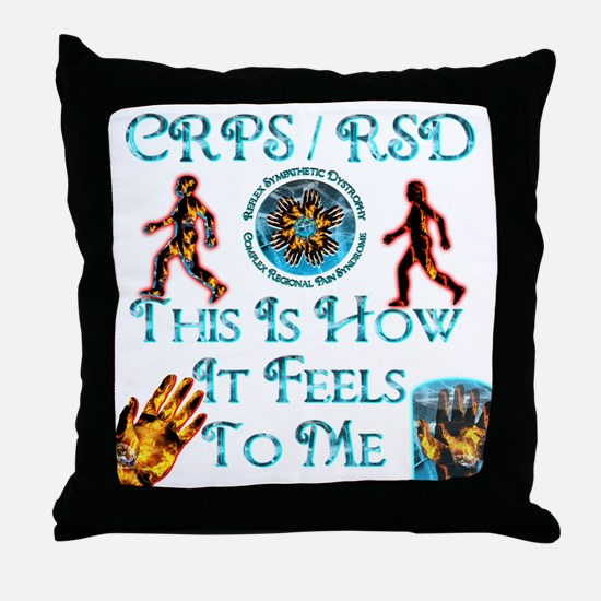 CRPS / RSD This Is How It Fee Throw Pillow