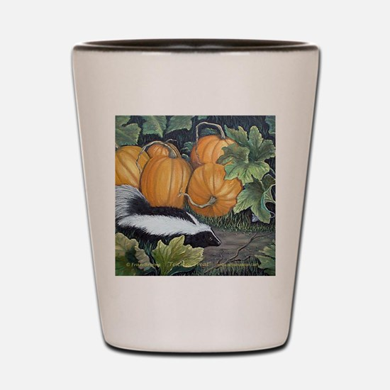 Trick or Treat Skunk Mouse Shot Glass