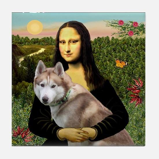 Mona & her Red Husky Tile Coaster
