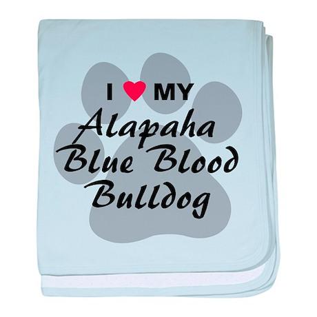 Alapaha Blue Blood Bulldog baby blanket