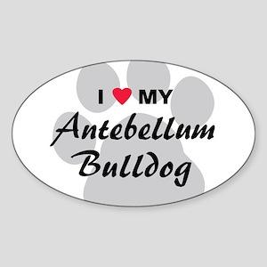 Antebellum Bulldog Sticker (Oval)