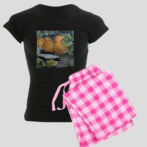 Trick or Treat Skunk Mouse Women's Dark Pajamas