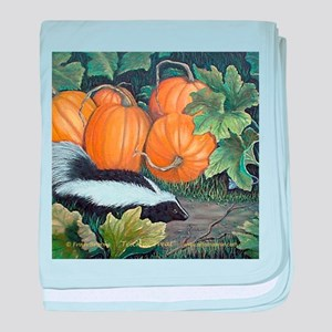 Trick or Treat Skunk Mouse baby blanket