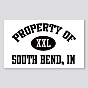 Property of South Bend Rectangle Sticker