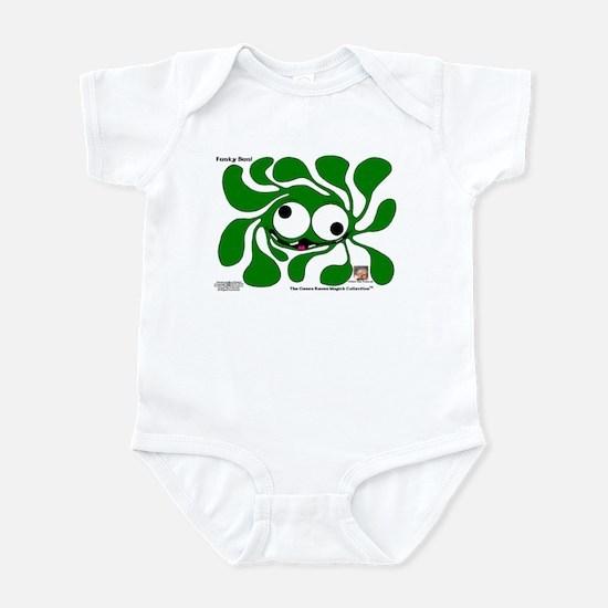 Funky Sun! In Celtic Green Infant Bodysuit