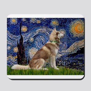 Starry Night & Husky Mousepad