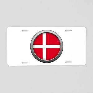 Round Flag - Denmark Aluminum License Plate