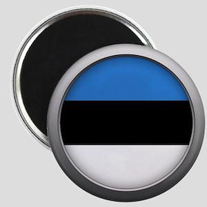 Round Flag - Estonia Magnet