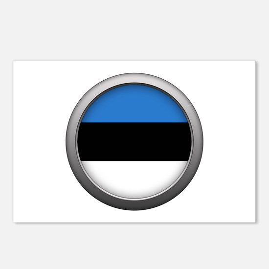 Round Flag - Estonia Postcards (Package of 8)