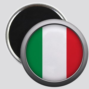Round Flag - Italy Magnet
