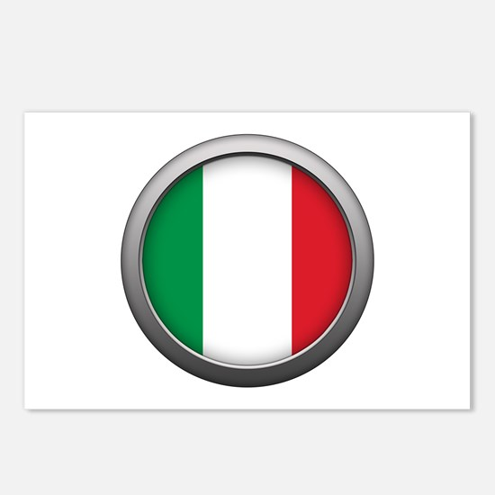Round Flag - Italy Postcards (Package of 8)