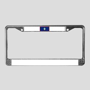 Guam Guaminian Blank Flag License Plate Frame