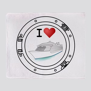 I Heart Cruising Throw Blanket