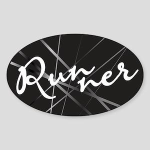 Abstract Runner Sticker (Oval)