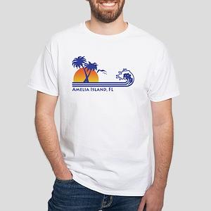 Amelia Island Florida White T-Shirt