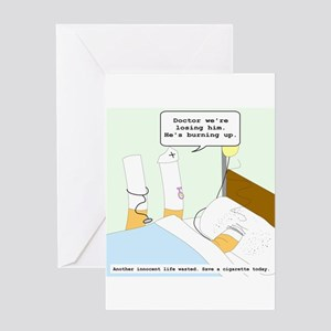 Dying cigarette Greeting Card