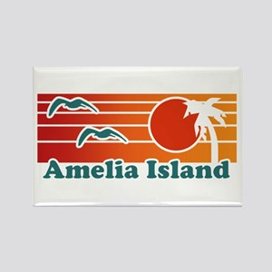 Amelia Island Rectangle Magnet