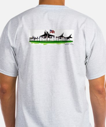 """Langley AFB """"Planes on a Stick"""" - Ash Grey T-Shirt"""