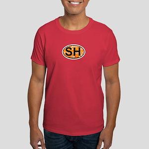 Sandy Hook NJ - Oval Design Dark T-Shirt