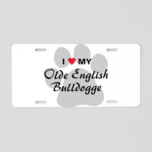 Olde English Bulldogge Aluminum License Plate