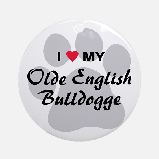 Olde English Bulldogge Ornament (Round)