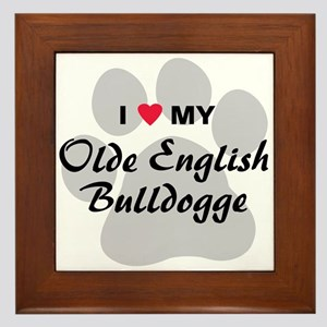 Olde English Bulldogge Framed Tile