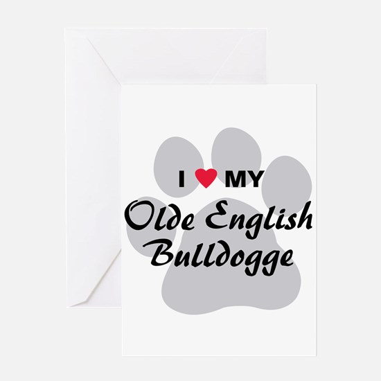Olde English Bulldogge Greeting Card