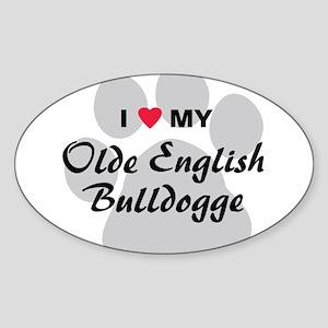 Olde English Bulldogge Sticker (Oval)