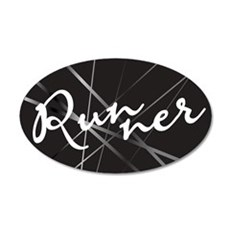 Abstract Runner 22x14 Oval Wall Peel