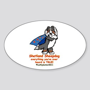 Tri Super Sheltie Sticker (Oval)