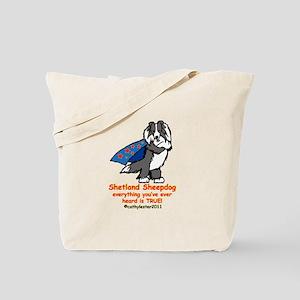 Black Super Sheltie Tote Bag