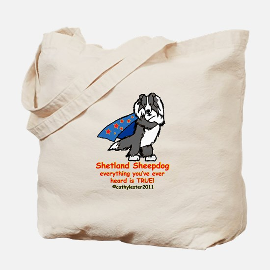 Black Super Sheltie Tote Bag
