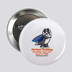 "Black Super Sheltie 2.25"" Button"