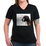 Women's V-Neck Dark T-Shirt