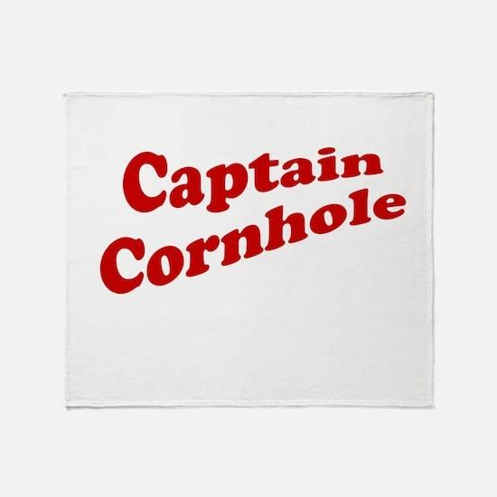 Captain Cornhole Throw Blanket