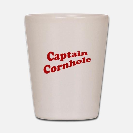Captain Cornhole Shot Glass