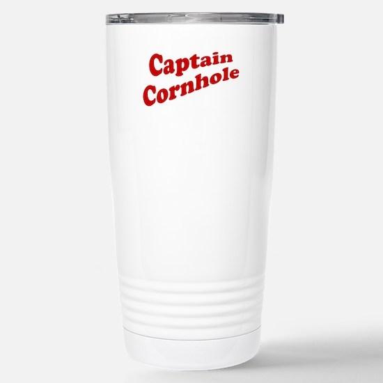 Captain Cornhole Stainless Steel Travel Mug