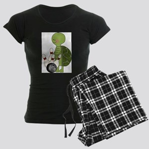 bowling turtle Women's Dark Pajamas