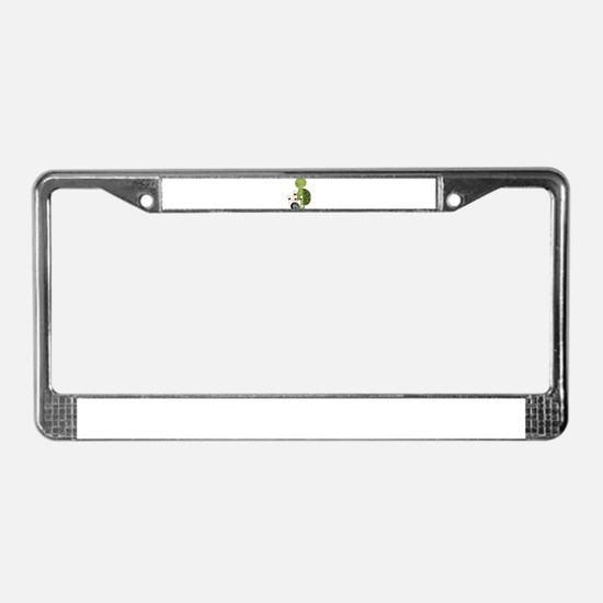 bowling turtle License Plate Frame