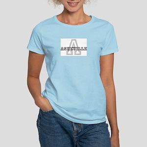 Letter A: Asheville Women's Pink T-Shirt