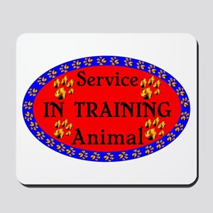 Service Animal In Training RB Mousepad