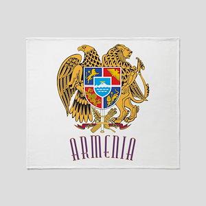 Armenian Coat of Arms Throw Blanket