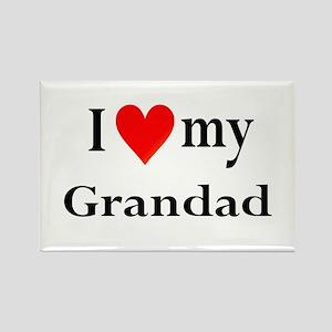 I Love My Grandad: Rectangle Magnet