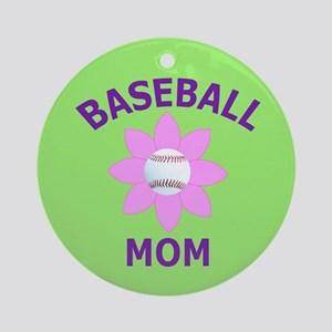 Baseball Mom Ornament (Round)
