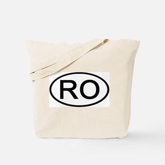 RO - Initial Oval Tote Bag