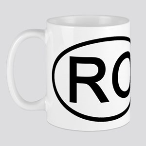 RO - Initial Oval Mug