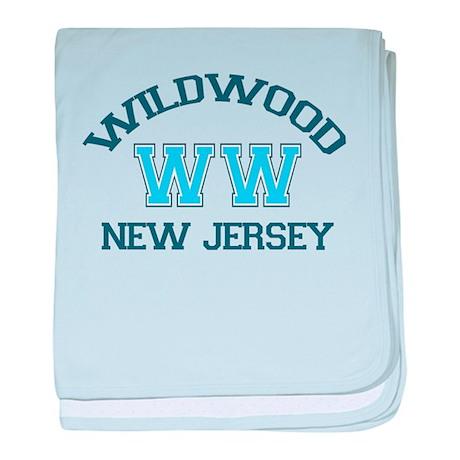 Wildwood NJ - Varsity Design baby blanket